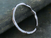 Silberring Schlicht Schmal Glatt Unregelmäßig Ring Silber 925 Verstellbar