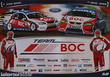 V8 Supercars Jones Bowe Team BOC Poster Excellent Cond Never Hung & Stored Flat