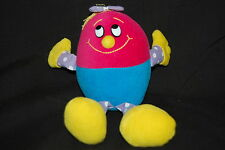 "Egg Shape Eggwina Red Blue Yellow Purple Polkadot Smiling Plush 8.5"" Papel Toy"