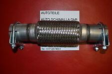 Flexrohr 40x250 mm Flexteil Edelstahl Rohr 2 x Schellen Montage ohne Schweißen