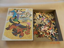 GUC Old Whitman Walt Disney's Goofy and  Minnie Mouse Jigsaw puzzle 100 pcs.