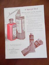 1927 L.D. Caulk Company Dental Dealer Brochure Mercitan Mer Dentifrice Vintage