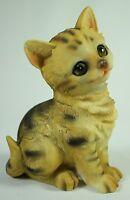 Sitting Kitten Figurine Polyresin Cat Figure Statue Animal Pet Feline Kitty New