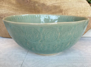 Anthropologie Old Havana Mint Round Serving Bowl 11359424 Made In Portugal