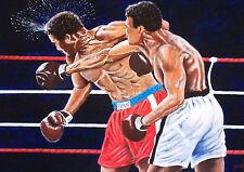 Ali v George Foreman by David Putland - A3 Limited edition Prints - Boxing Art