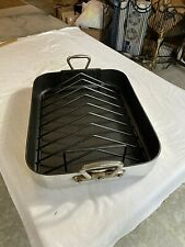 Vintage Williams Sonoma France Heavy Gauge Roasting Pan w/Rack (18 x 14 x 3.5)