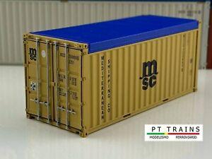 PT Trains 820501.1 HO 1:87 20OT 20ft Open Top Container - MSC #MSCU 2508996