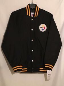 Mens Pittsburgh Steelers M-XL Snap Up Full Wool Blend Jacket Look Pics #27-29