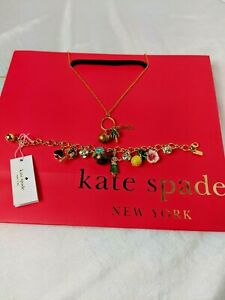 New Kate Spade Hawaii Charm Necklace and Bracelet Set Hawaiian EXCLUSIVE