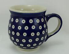 Bunzlauer Keramik Tasse BÖHMISCH Maxi, Becher, blau/weiß, 0,45 Liter, (K068-70A)