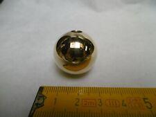 1 boule en laiton massif Ø 25 mm, pied, fin de lustre... brass balls (réf B25)