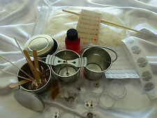 Candle making kit, bulk 4 x outdoor tin buckets all you need for great results