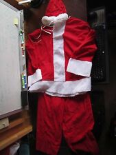 Vtg Santa's Best Rennoc Polyester Santa Costume Halloween Outfit Large Christmas
