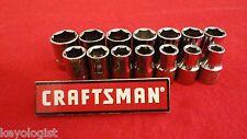 """CRAFTSMAN Socket Set 1/2"""" drive MM METRIC 6pt 14pcs LASER ETCHED"""
