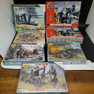 Zvezda and Airfix 1:72 All German Personnel / Soldiers! All New! Look!