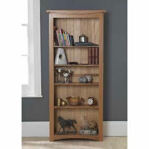 Crescent solid oak furniture large living room office bookcase bookshelf