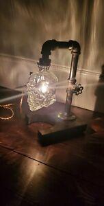 Fifty 1st Skull Lamp 💀 Steampunk ,Halloween, Horror , Vodka SKull