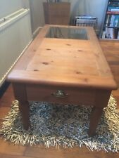 M&S French Pine & Glass Coffee Table