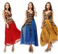 Chiffon V-Neck Regular Size Sleeveless Dresses for Women