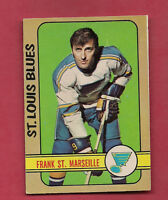 1972-73 OPC # 65 BLUES FRANK ST MARSEILLE  EX-MT  CARD