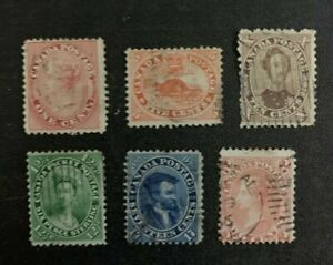 Canada Stamps #14-15 / 17-20 Used