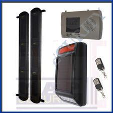 Kit de alerta de 3 Xbeam energía solar con alarma externo, Receptor & mandos de KT19