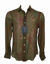 NEW $595 Polo Ralph Lauren Silk Paisley Shirt!  XL  *SHEER*   *ITALY*