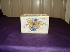 Vintage Ceramic Butterfly Design  Flower Frog Arranger