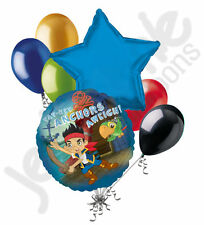 7pc Jake & the Neverland Pirates Balloon Bouquet Party Decoration Happy Birthday
