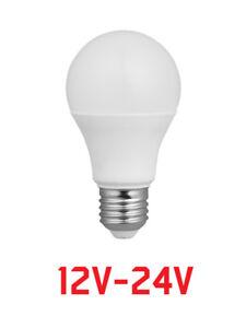 LAMPADINA A LED 12V 12 VOLT 12/24 V LUCE NATURALE ATTACCO GRANDE E27 10W = 70W