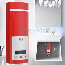 5500W Instant Electric Tankless Water Heater Shower System Under Sink Tap Faucet