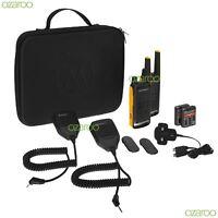 2x Motorola T82 Extreme Walkie Talkie PMR 446 Radios RSM Speaker Microphone Pack