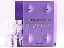GIORGIO ARMANI EMPORIO ARMANI DIAMONDS VIOLET EDP 1.5ml .05oz x 3 SPRAY SAMPLES