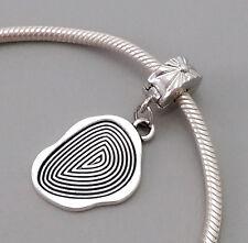 Silver Charm Bead Stopper Lock Clip fits Authentic European bracelet fingerprint