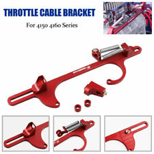 DYNO- 4150 4160 Aluminum Series Red Billet Throttle Cable Carb Bracket