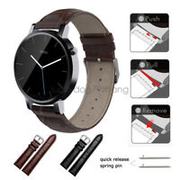 Crocodile Pattern Leather Watch Band Strap For Motorola Moto 360 2nd Gen 46mm