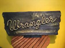 Wrangler Signboard Novelty Rare Usa Vintage Collectible Promotional Item F/S