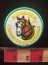 Vtg BUDWEISER CHAMPION CLYDESDALE Patch (The Horse Of Beer Commercial Fame) 70I