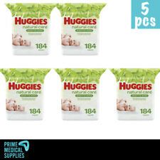 Baby Wipes ( PACK OF 5 ) Huggies Natural Care Refill Pouch Unscented 184 Count