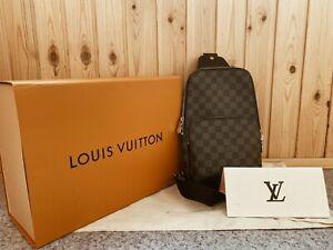 LOUIS VUITTON AVENUE SLING BAGS N41719 CANVAS 100% AUTHENTIC
