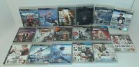 Lot Of 17 Sony PlayStation 3 PS3 Video Games No Manuals Tested Skyrim MLB + More
