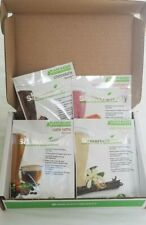 Shakeology Vegan Sample Pack Chocolate, Tropical Strawberry, Cafe Latte, Vanilla