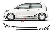 Volkswagen VW Up! Checkerflag Seitenstreifen Aufkleber Set (für 3 & 5 Türer) #5