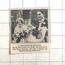 1928 Mr W Hope Collins Carrying Train Of Bride Nancy Montague