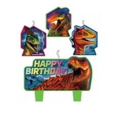 Jurassic World Party Supplies Candles Candle Set x 4