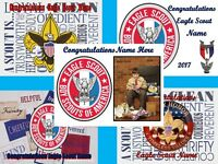 EDIBLE CAKE TOPPER EAGLE BOY SCOUT ICING SUGAR PHOTO IMAGE SHEET DECORATION