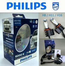 Genuine PHILIPS X-treme Ultinon LED FOG Lamp H8 H11 H16 6000K Bulb 2 Pcs #Agtc