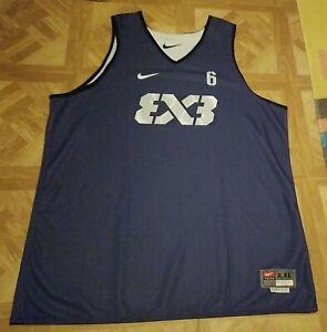 Nike FIBA 3x3 Reversible Basketball Jersey #6 Men's XXL Length+2 Purple/White