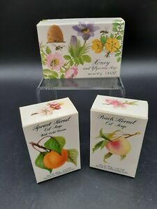 Set Of 3 Crabtree & Evelyn Soaps, Honey, Peach Kernal & Apricot Kernel 1.4 oz