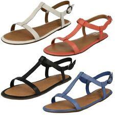 Sandalias y chanclas de mujer planos Clarks color principal negro